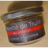 Emietté de truite aux poivrons