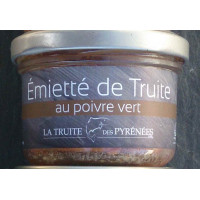 Emietté de truite poivre vert, 90 g