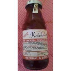 Ketchup Ariégeois tomates fumé au bois de hêtre, 230 ml (sans conservateurs, additifs ou colorants)