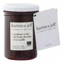 Confiture Fruits des bois bio à la vanille, 250 g