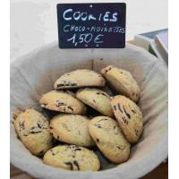 Cookies chocolat, noisettes bio x 3