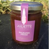 Confiture Extra Fraise/Rhubarbe (63% de fruits), 220g